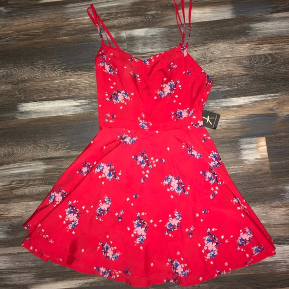 c22f4e35ac5 Red Floral Print Sundress
